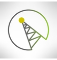 Mobile signal tower station made in modern flat vector image