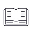 open book line icon sign on vector image