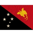 Papua New Guinea paper flag vector image vector image