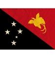 Papua New Guinea paper flag vector image