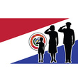 Paraguay soldier family salute vector image