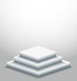 podium in empty room vector image vector image