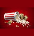 popcorn in paper bucket full vector image