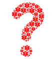 question mark shape of medical emblem icons vector image vector image