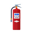 red fire extinguisher firefighting equipment flat vector image