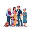 relatives portrait big family kids adults together vector image