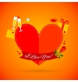 Romantic Love Card vector image vector image