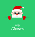santa claus on green background santa clause on vector image vector image