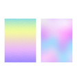 set holographic backgrounds vector image