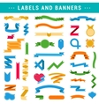 set labels banners and ribbons vector image