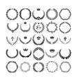 set laurel wreath - symbol victory and vector image vector image