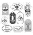 set tailor emblem signage vector image vector image