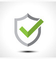 shield check mark logo icon vector image vector image