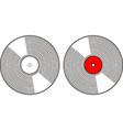 simple outline drawn classic vinyl music retro vector image