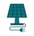solar panel energy ecological clean vector image vector image