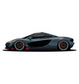 sport car side view vector image