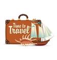 still life on tourist theme vector image vector image