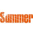 summer time banner design vector image vector image