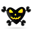 sweet and cute pumpkin in the heart vector image vector image
