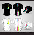 T-shirt and cap Design Template vector image vector image