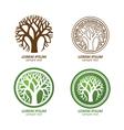 tree logo2 vector image vector image