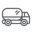 truck line icon transport and automobile van vector image vector image