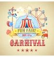 Vintage carnival poster vector image vector image
