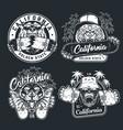 vintage monochrome skateboarding logos vector image vector image