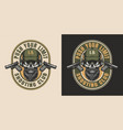 vintage special forces colorful emblem vector image vector image