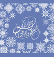 winter snowflakes vector image