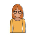 woman faceless profile vector image vector image