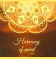 yoga banner with mandala vector image vector image