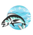 fish and blue waves vector image