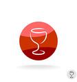 Wine glass logo template vector image