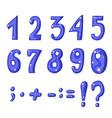 cute cartoon english blue alphabet vector image