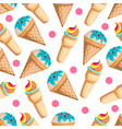 seamless pattern with ice-cream vector image