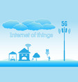 5g internet high speed concept internet of things vector image vector image