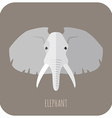 Animal Portrait With Flat Design Elephant vector image