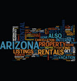 arizona the host of great events text background vector image vector image