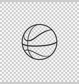 basketball ball icon isolated sport symbol vector image vector image