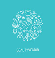 Beauty and spa line logo and sign
