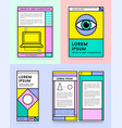 big set of visual identity in trendy new fat line vector image vector image