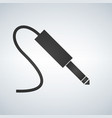 black audio jack cable icon isolated on modern vector image vector image