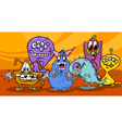 cartoon monsters group vector image vector image