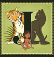 children book cartoon fairytale alphabet letter j vector image