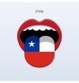 Chile language Human tongue vector image vector image