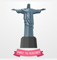 Christ the redeemer icon on white background
