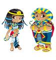 cleopatra and pharaoh vector image
