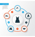 clothes icons set collection of trunks cloth vector image