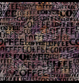 coffee abstract coffee pattern on brown vector image vector image